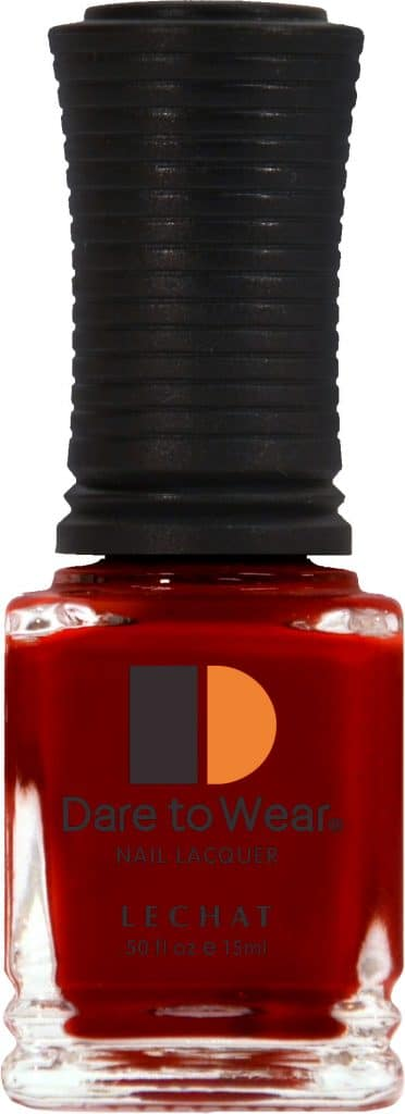 half fluid ounce bottle of red Dare to Wear lacquer.