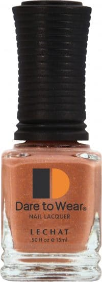 half fluid ounce bottle of brown Dare to Wear lacquer.