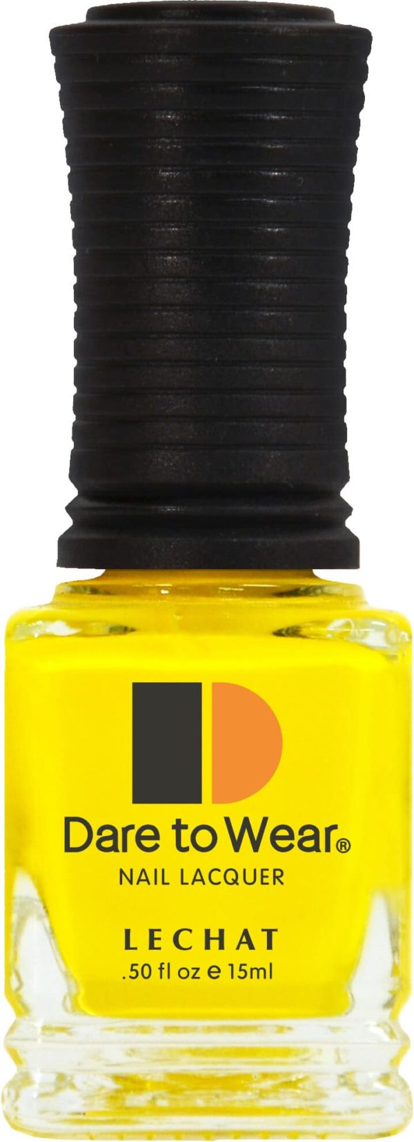 half fluid ounce bottle of yellow Dare to Wear lacquer.