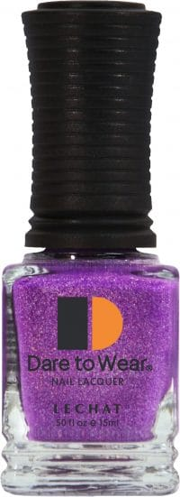half fluid ounce bottle of purple with glitter Dare to Wear lacquer.