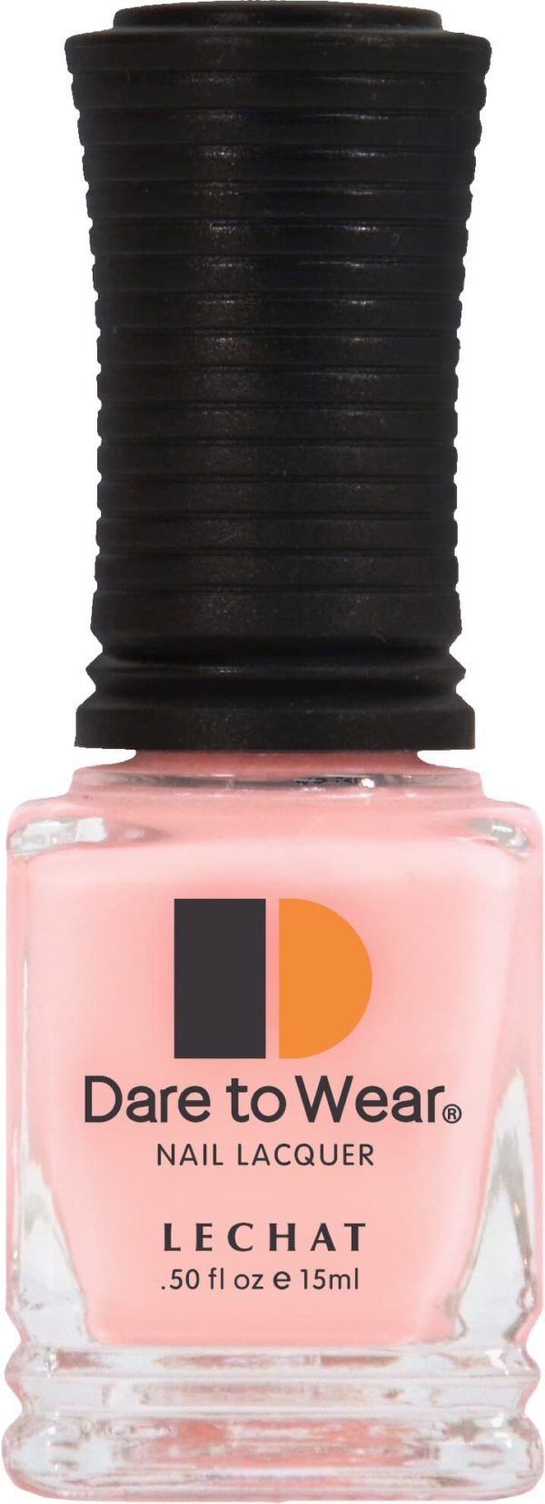 half fluid ounce bottle of pink Dare to Wear lacquer.