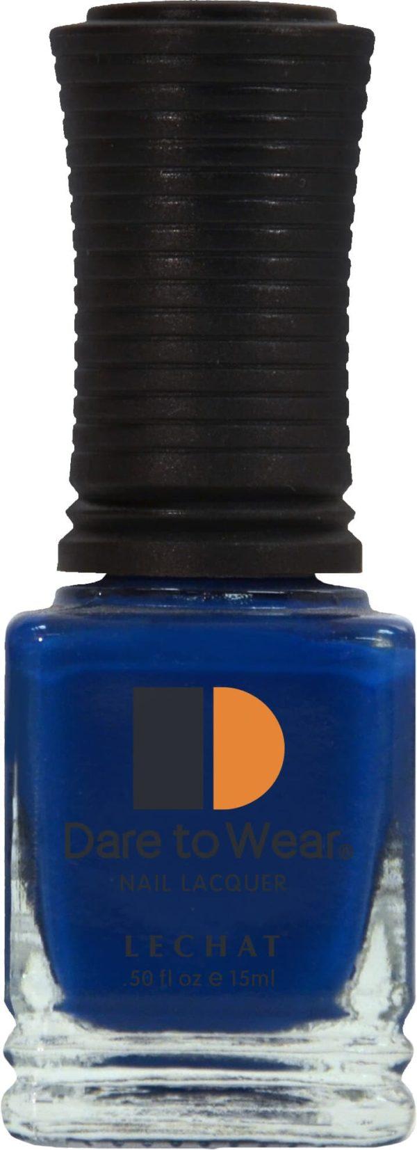 half fluid ounce bottle of blue lacquer.