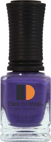 half fluid ounce bottle of purple lacquer.