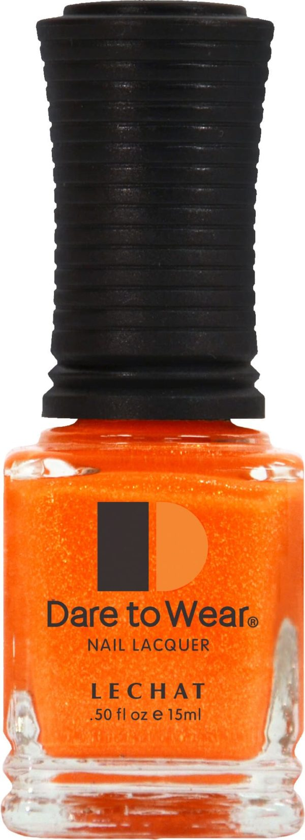 half fluid ounce bottle of orange Dare to Wear lacquer.