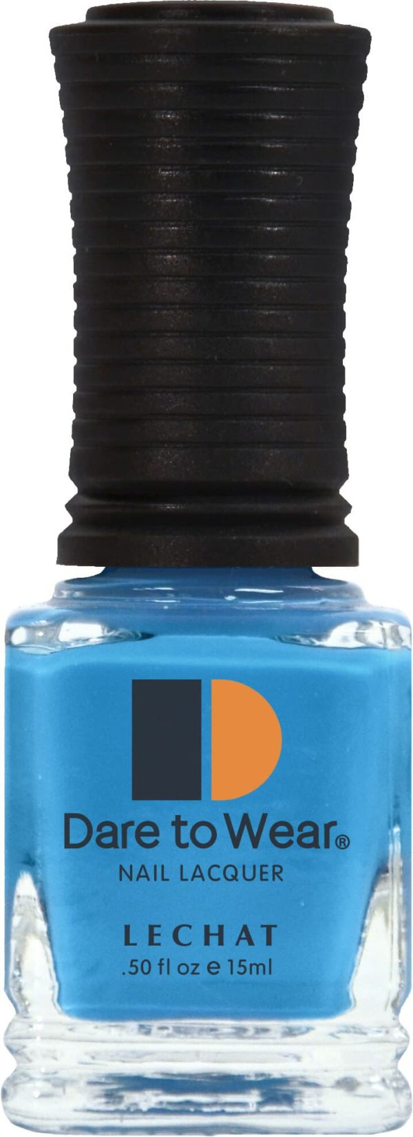 half fluid ounce bottle of blue Dare to Wear lacquer.