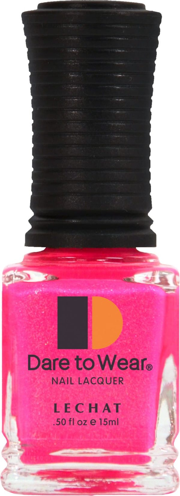 half fluid ounce bottle of pink lacquer.