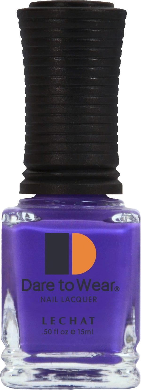 half fluid ounce bottle of purple lacquer.