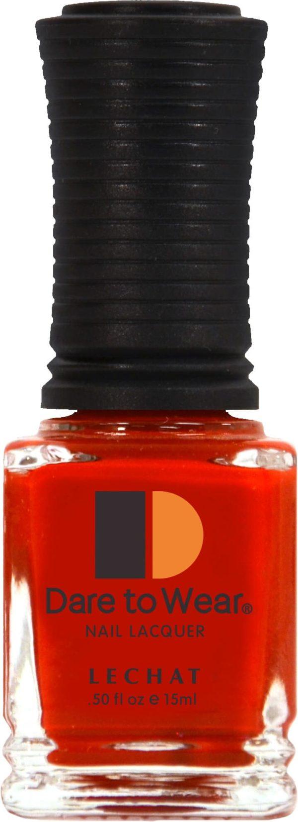 half fluid ounce bottle of orange lacquer.