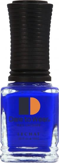 half liquid ounce bottle of blue lacquer.