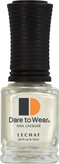 half fluid ounce bottle of white Dare to Wear lacquer.