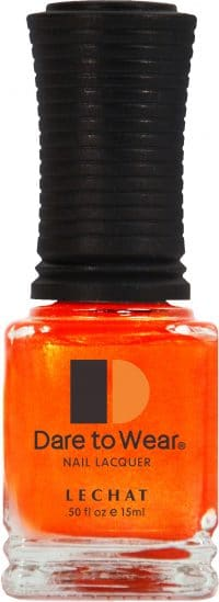 half fluid ounce bottle of orange Dare to Wear lacquer.