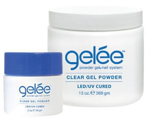 gelée clear gel powder containers.