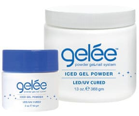 gelée iced gel powder containers.
