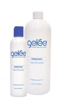 gelée remover product bottles.