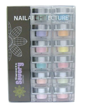 Nail Architecture Savory Sweets dip powder collection set.