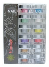 Nail Architecture Vintage Deco dip powder collection set.