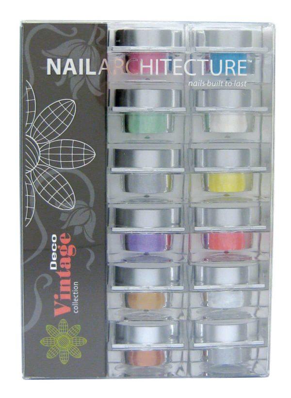 Nail Architecture Vintage Deco dip powder collection set.