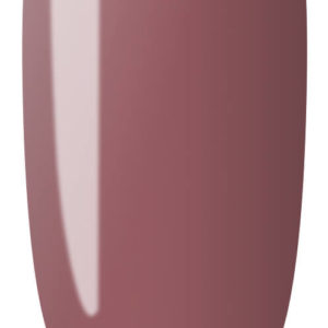 brown color sample on nail tip.