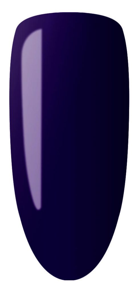 purple pink color sample on nail tip.