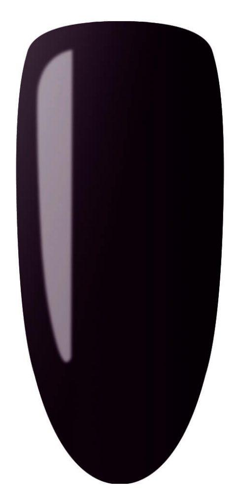 dark red color sample on nail tip.