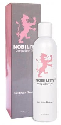 eight fluid ounce bottle of Nobility gel brush cleaner.