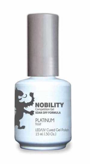 half fluid ounce bottle of Nobility grey gel polish.