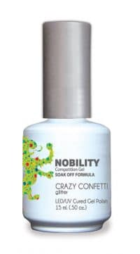 half fluid ounce bottle of Nobility green gel polish.
