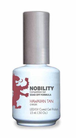 half fluid ounce bottle of Nobility tan gel polish.