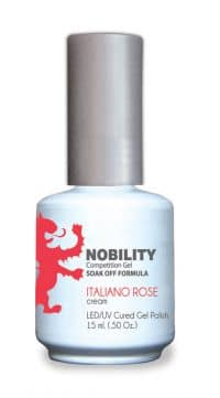 half fluid ounce bottle of Nobility pink gel polish.