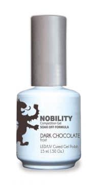 half fluid ounce bottle of Nobility brown gel polish.