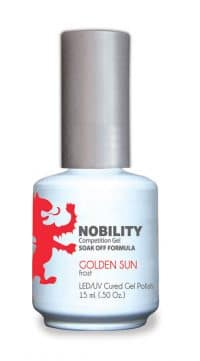 half fluid ounce bottle of Nobility orange gel polish.