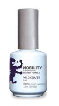 half fluid ounce bottle of Nobility puprle gel polish.