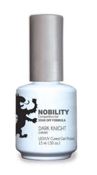 half fluid ounce bottle of Nobility black gel polish.
