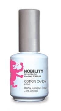 half fluid ounce bottle of Nobility pink gel polish.