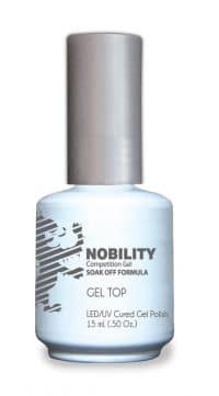 half fluid ounce bottle of Nobility gel top polish.