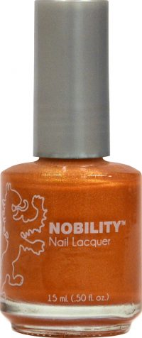half fluid ounce bottle of Nobility golden nail lacquer.