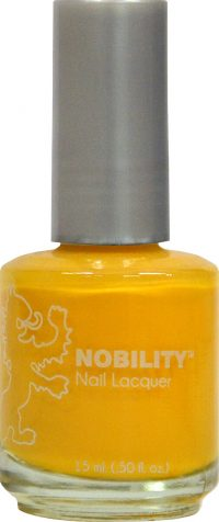 half fluid ounce bottle of Nobility yellow nail lacquer.