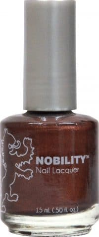 half liquid ounce bottle of brown nobility lacquer.