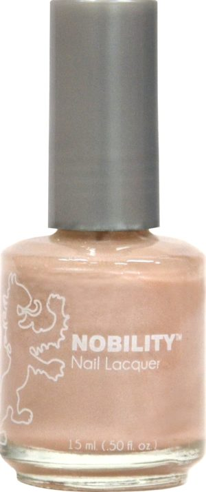 half liquid ounce bottle of pink nobility lacquer.
