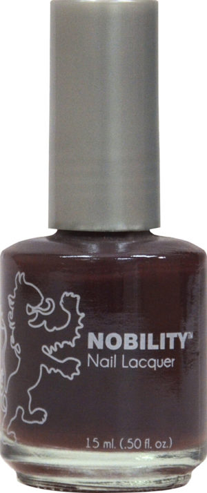 half fluid ounce bottle of Nobility puprle nail lacquer.