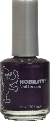 half fluid ounce bottle of Nobility purple nail lacquer.