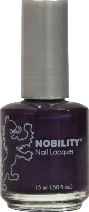 half fluid ounce bottle of Nobility purple nail lacquer.