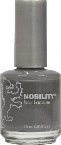 half liquid ounce bottle of grey nobility lacquer.
