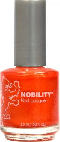 half liquid ounce bottle of orange nobility lacquer.