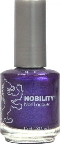 half liquid ounce bottle of purple nobility lacquer.