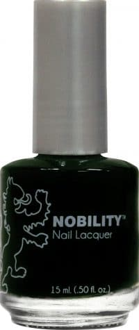 half liquid ounce bottle of dark green nobility lacquer.