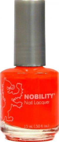 half liquid ounce bottle of orange nobility lacquer.