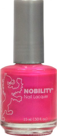 half fluid ounce bottle of Nobility pink nail lacquer.