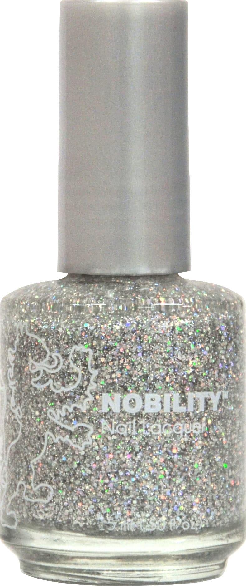 Nobility Nail Lacquer - Silver Glitz | LeChat Nails