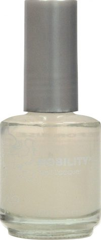 half fluid ounce bottle of Nobility base coat nail lacquer.